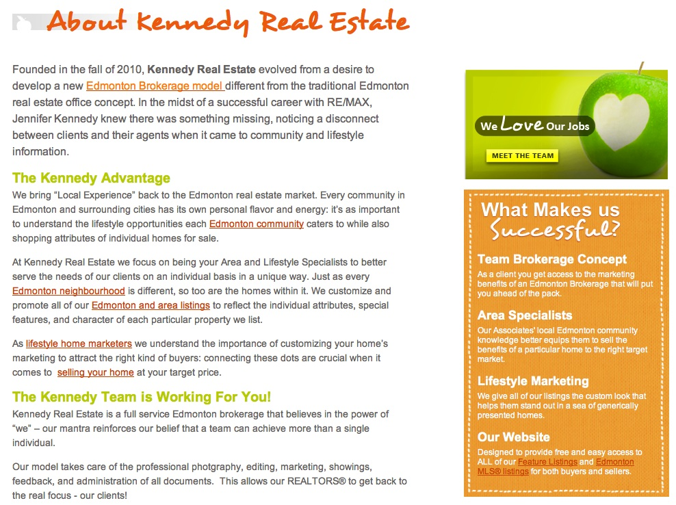 KennedyRealEstate.ca About Us Page