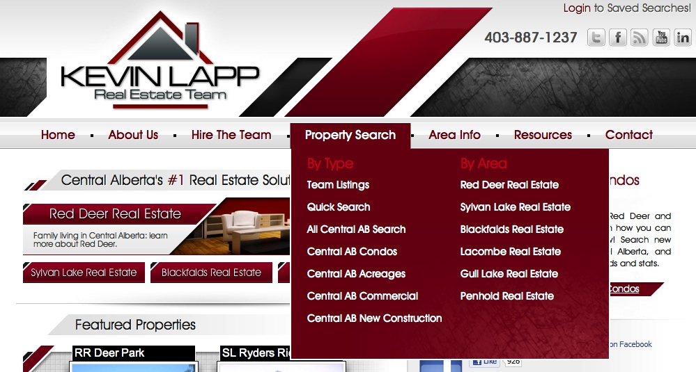KevinLapp.ca Navigation Dropdown