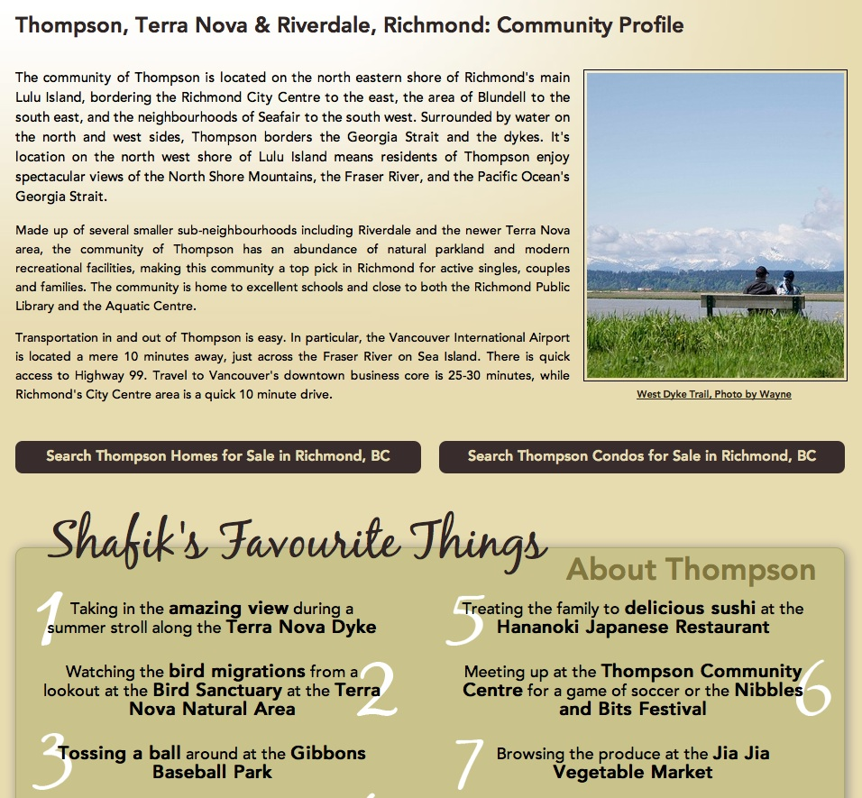 Shafik.com Thompson Community Page