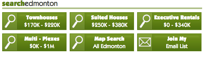 Custom saved search buttons from www.albertaonfire.com