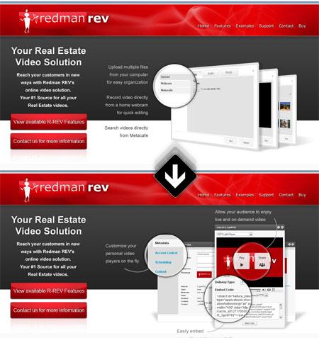 jQuery HomePage Slider - Redman Tech REV