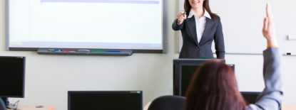corporate trainning - woman presenting